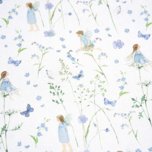 Elfengarten blau Baumwolle von Daniela Drescher