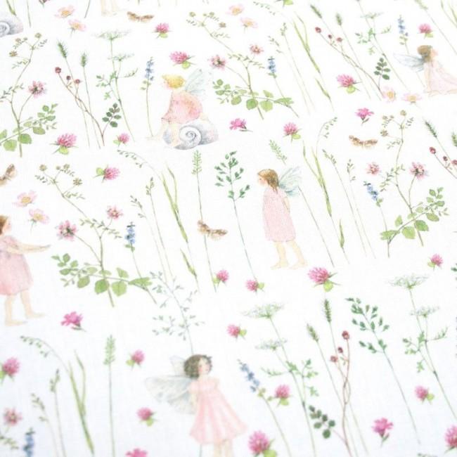 Elfengarten rosa Baumwolle von Daniela Drescher