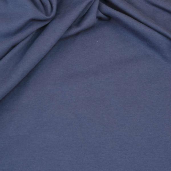 Baumwoll Jersey Uni blau