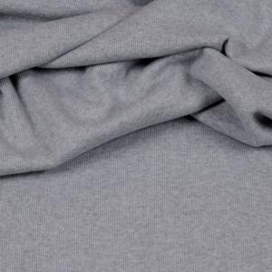 Feinripp-Bündchen meliert grau