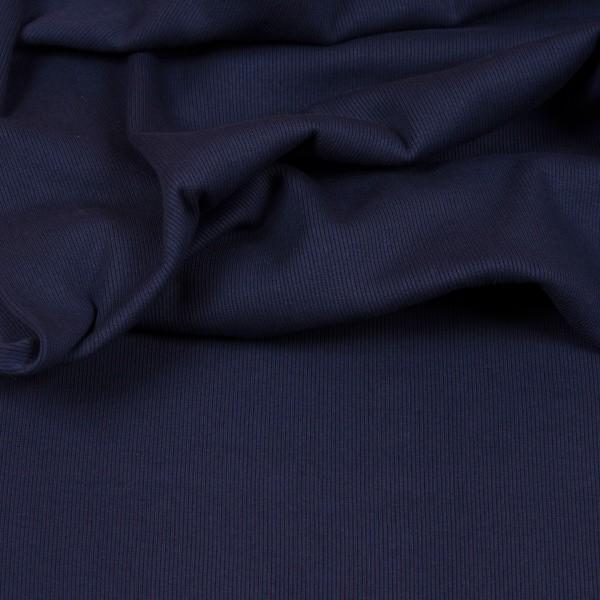 Feinripp-Bündchen marineblau