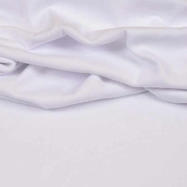 Feinripp-Bündchen weiß