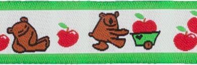Webband kleiner Bär mit Apfel