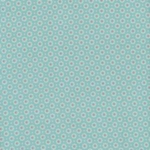 Beschichtete Baumwolle Blümchen mint