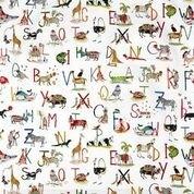 Clark und Clark Baumwoll Canvas/Möbelbezugstoff Buchstabentiere
