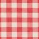 Clark und Clark Baumwoll Canvas/Möbelbezugstoff rot weißes Karo