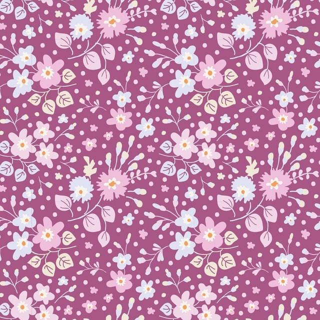 Tilda PlumGarden Flower Confetti Plum