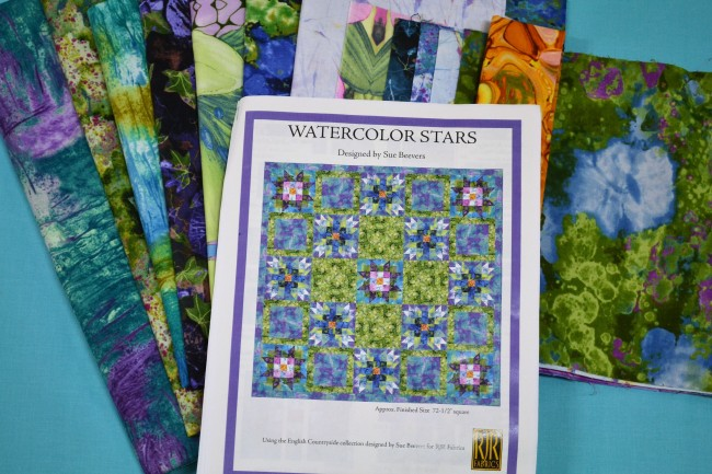 Patchwork Kit Watercolour Stars by Sue Beevers