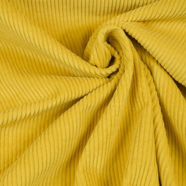 Cord senfgelb Baumwolle