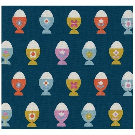 Patchworkstoff Cotton+Steel Egg Cups Navy