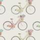 Clark und Clark Baumwoll Canvas/Möbelbezugstoff Fahrräder