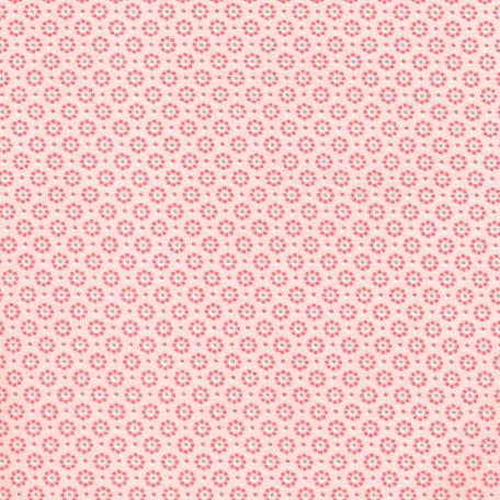 Beschichtete Baumwolle Blümchen hell rosa