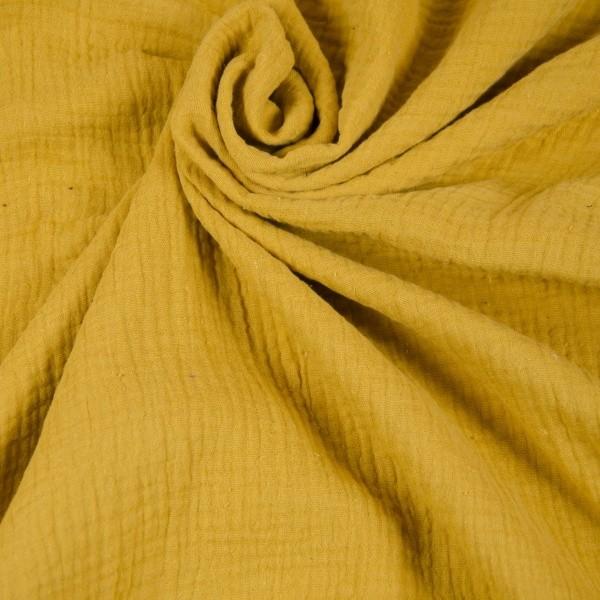 Baumwoll Musselin gelb