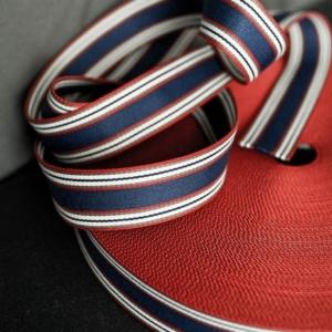 Gurtband 4 cm blau und rot