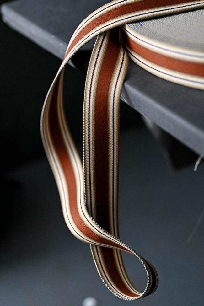 Gurtband 4 cm terakotta mit gelb