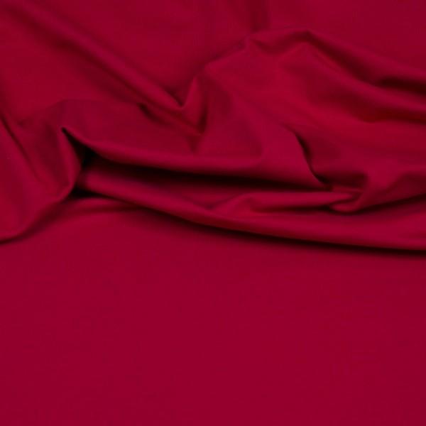 Baumwoll Jersey Uni dunkel rot