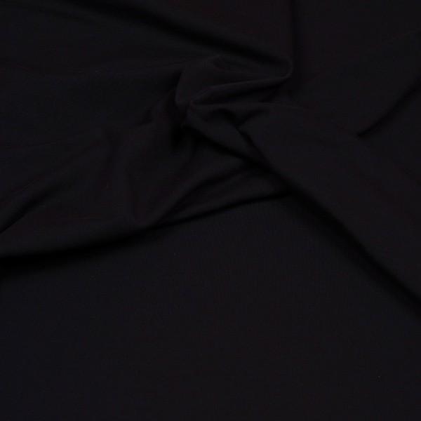 Baumwoll Jersey Uni schwarz