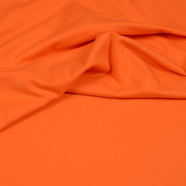 Baumwoll Jersey Uni orange