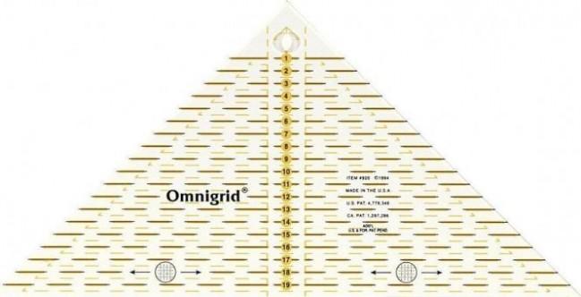 Flottes Dreieck 1/4 Quadrat cm