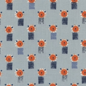 Patchworkstoff Cotton+Steel Lions Blue