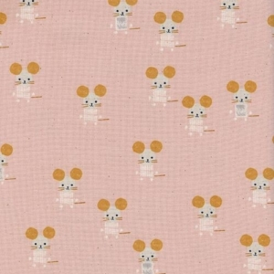 Patchworkstoff Cotton+Steel Little Friends Pink