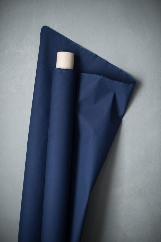 Dry Oilskin Navy Baumwolle