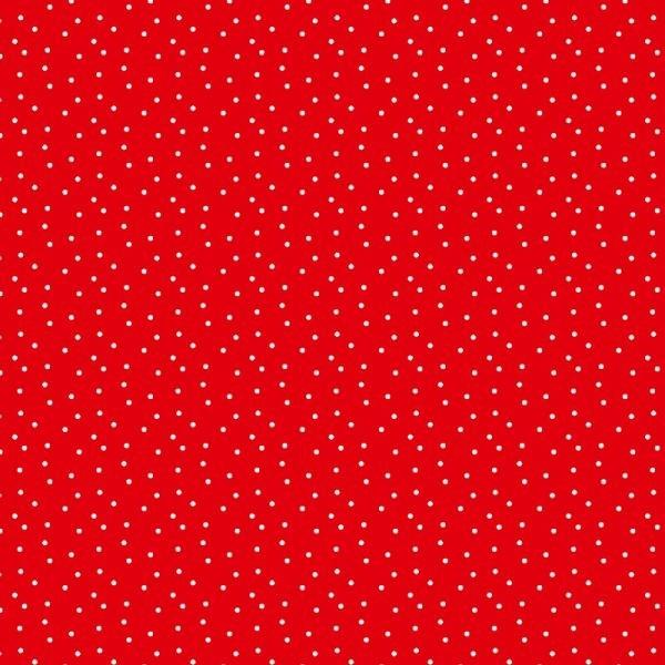 rote Tupfen Baumwolle von Daniela Drescher
