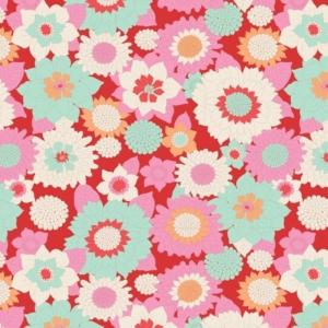 Tilda LemonTree Boogie Flower Red