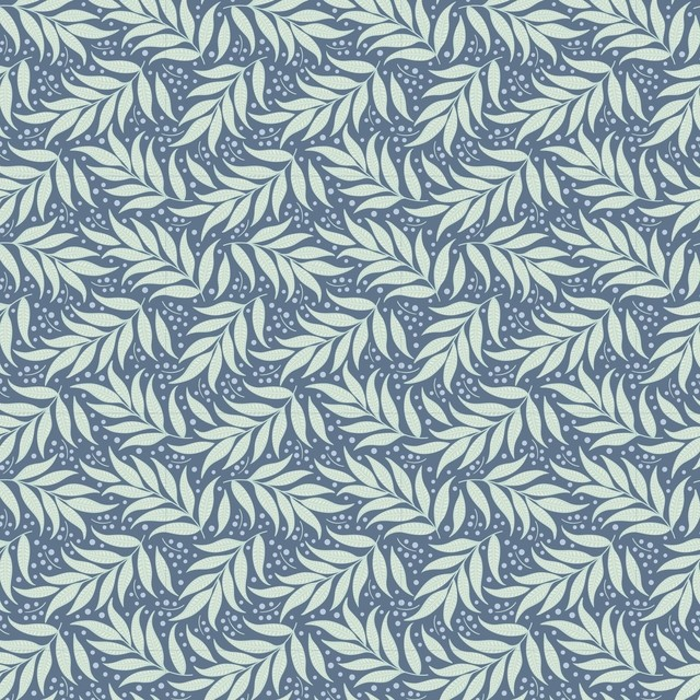 Tilda Cottage Collection Berry Leaf Blue