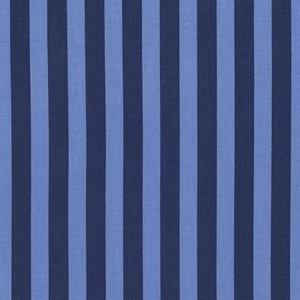 Tula Pink Tabby Road – Disco Kitty - Tent Stripe in Blue Bird