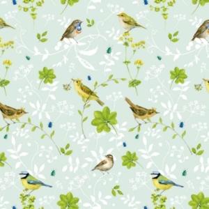 Vogelwelt Baumwollstoff von Daniela Drescher