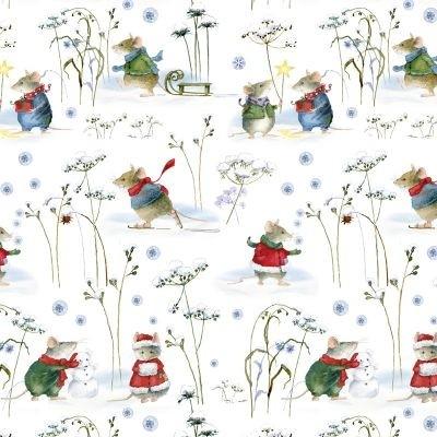 Wintermäuse Baumwolle von Daniela Drescher