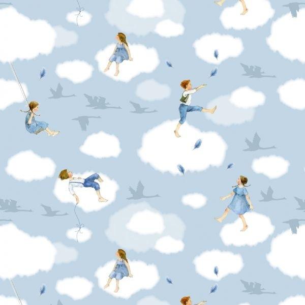 Wolkenkinder Baumwollstoff von Daniela Drescher
